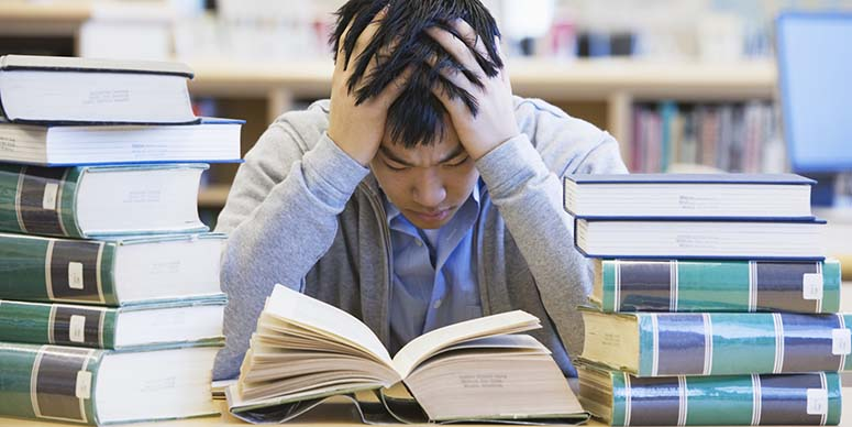 Student stressed over college